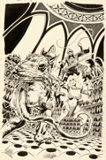 Original Comic Art:Covers, Frank Thorne Red Sonja #2 Cover Original Art (Marvel,1977)....