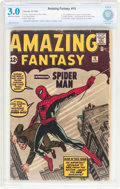 Silver Age (1956-1969):Superhero, Amazing Fantasy #15 (Marvel, 1962) CBCS GD/VG 3.0 Off-white towhite pages....