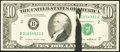 Error Notes:Ink Smears, Fr. 2027-B $10 1985 Federal Reserve Note. About Uncirculated.. ...