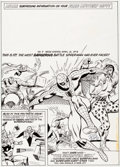 Original Comic Art:Covers, Dick Ayers Spider-Man Comics Weekly #9 Cover Original Art(Marvel UK, 1973)....
