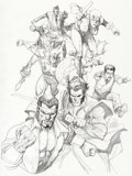 Original Comic Art:Covers, Leinil Francis Yu New Avengers #34 Cover Original Art(Marvel, 2007)....