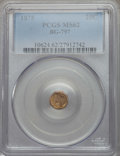 California Fractional Gold , 1875 25C Indian Octagonal 25 Cents, BG-797, Low R.4, MS62 PCGS.PCGS Population (20/86). NGC Census: (7/9). ...