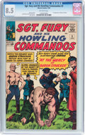 Silver Age (1956-1969):War, Sgt. Fury and His Howling Commandos #5 (Marvel, 1964) CGC VF+ 8.5 Off-white pages....