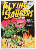 Golden Age (1938-1955):Science Fiction, Flying Saucers #1 (Avon, 1950) Condition: FN....