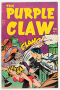 Golden Age (1938-1955):Horror, Purple Claw #1 (Minoan Publishing Co., 1953) Condition: FN-....