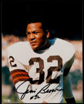 Football Collectibles:Photos, Jim Brown Signed Photograph....