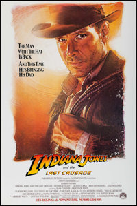 "Indiana Jones and the Last Crusade (Paramount, 1989). One Sheet (27"" X 40.5"") SS Advance. Action"