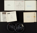 """Movie Posters:James Bond, James Bond Radio Spot Lot (United Artists,1964-1983). Reel to Reel Tapes (14) (5.5"""" X 5.5"""" X .5""""), 33 1/3 RPM Records (11) (... (Total: 25 Items)"""
