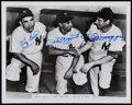 Baseball Collectibles:Photos, Berra, Rizzuto and DiMaggio Multi-Signed Photograph....