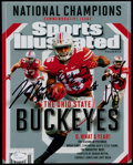 Football Collectibles:Photos, Cardale Jones, Joey Bosa and Ezekiel Elliott Signed Photograph....