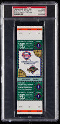 Baseball Collectibles:Tickets, 1993 World Series Game 4 Full Ticket PSA Gem Mint 10....
