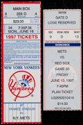 Baseball Collectibles:Tickets, 1997 New York Yankees First Interleague Game Ticket Stub...