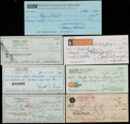 Miscellaneous Collectibles:General, Misc. Sports Signed Checks Lot of 7....