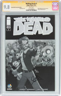 Modern Age (1980-Present):Horror, Walking Dead #1 Wizard World Tulsa Sketch Edition - SignatureSeries (Image, 2015) CGC NM/MT 9.8 White pages....
