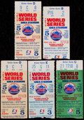 Baseball Collectibles:Tickets, 1973 World Series Ticket Stubs Lot of 5....