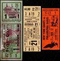 Football Collectibles:Tickets, 1944-69 NFL Tickets Lot of 3....