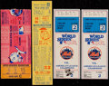 Baseball Collectibles:Tickets, 1962-86 New York Mets Ticket Stubs Including One Full Lot of 4. ...
