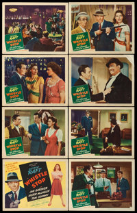 """Whistle Stop (United Artists, 1945). Lobby Card Set of 8 (11"""" X 14""""). From the collection of William E. Rea..."""