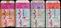 Baseball Collectibles:Tickets, 1952-56 New York Yankees World Series Ticket Stubs Lot of 4....