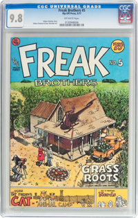 The Fabulous Furry Freak Brothers #5 (Rip Off Press, 1977) CGC NM/MT 9.8 Off-white pages