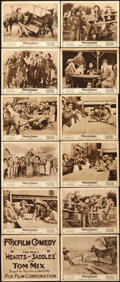 "Movie Posters:Western, Hearts and Saddles (Fox, 1917). Lobby Card Set of 12 (11"" X 14"")..... (Total: 12 Items)"