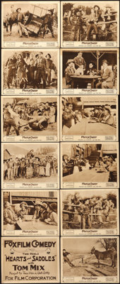 """Hearts and Saddles (Fox, 1917). Lobby Card Set of 12 (11"""" X 14""""). ... (Total: 12 Items)"""