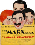 "Movie Posters:Comedy, Animal Crackers (Sam H. Harris Productions,1928). Die Cut TheatreHandout (4.5"" X 6"" Folded, 6"" X 18"" Unfolded).. ..."