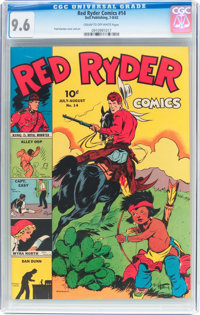 Red Ryder Comics #14 (Dell, 1943) CGC NM+ 9.6 Cream to off-white pages