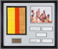Basketball Collectibles:Photos, Los Angeles Lakers Greats Multi-Signed Great Western Forum FloorDisplay....