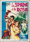 "Movie Posters:Adventure, The Sword and the Rose (RKO, 1954). Italian 2 - Fogli (39.25"" X55.25""). Adventure.. ..."