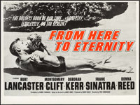 """From Here to Eternity (Columbia, R-1960s). British Quad (30"""" X 40""""). Academy Award Winners"""