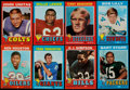 Football Cards:Sets, 1971 Topps Football Near Set (262/263) Missing #160 Griese....