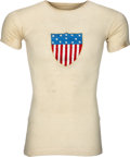 Olympic Collectibles:Autographs, 1908 Horace Ramey Race Worn USA Track Team Jersey from London Olympics....