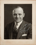 Football Collectibles:Photos, 1930's George Halas Signed Original Photograph to Joe Carr from TheJoe Carr Collection....