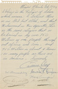 Boxing Collectibles:Autographs, 1964 Cassius Clay (Muhammad Ali) Handwritten Letter with First Confirmation of Conversion to Islam....