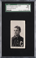 Baseball Cards:Singles (Pre-1930), 1903 E107 Breisch-Williams Elmer Flick SGC 50 VG-EX 4 - The OnlyKnown Card with Company Stamp Back. ...