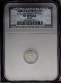 Seated Half Dimes: , 1840 H10C Drapery--Bent--NCS. VF Details....