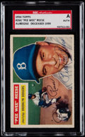 Baseball Cards:Singles (1950-1959), Signed 1956 Topps Pee Wee Reese #260 SGC Authentic....