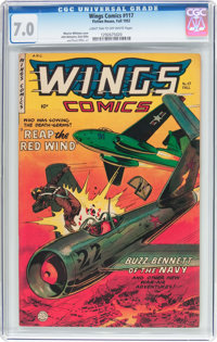 Wings Comics #117 (Fiction House, 1952) CGC FN/VF 7.0 Light tan to off-white pages