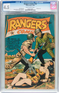 Golden Age (1938-1955):War, Rangers Comics #19 (Fiction House, 1944) CGC VG+ 4.5 Slightlybrittle pages....