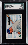 Baseball Cards:Singles (1950-1959), 1951 Bowman Mickey Mantle #253 SGC 35 Good+ 2.5....