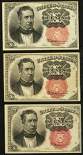 Fractional Currency:Fifth Issue, 10¢ Fifth Issue Very Fine or Better.. ... (Total: 3 notes)