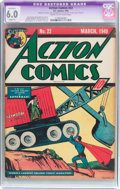 Golden Age (1938-1955):Superhero, Action Comics #22 (DC, 1940) CGC Apparent FN 6.0 Slight (P) Cream to off-white pages....
