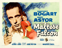 """The Maltese Falcon (Warner Brothers, 1941). Half Sheet (22"""" X 28"""") Style A"""