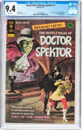 Bronze Age (1970-1979):Horror, Occult Files of Doctor Spektor #1 (Gold Key, 1973) CGC NM 9.4 Whitepages....