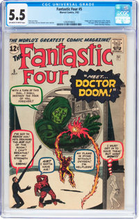 Fantastic Four #5 (Marvel, 1962) CGC FN- 5.5 Off-white to white pages