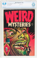 Golden Age (1938-1955):Horror, Weird Mysteries #10 (Gillmor, 1954) CBCS FN 6.0 Off-white pages....