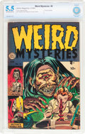 Golden Age (1938-1955):Horror, Weird Mysteries #9 (Gillmor, 1954) CBCS FN- 5.5 Off-white to whitepages....
