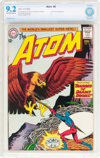 The Atom #5 (DC, 1963) CBCS NM- 9.2 Off-white to white pages