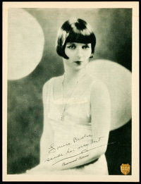 """Louise Brooks (Paramount, Late 1920s). Promotional Lobby Card (11"""" X 14""""). Miscellaneous"""
